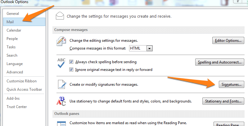 how to make an email signature on outlook